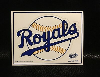 1985 World Series Kansas City KC Royals MLB Baseball Sticker / Decal 5.25