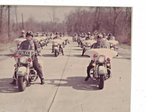 Feb 1976 Photograph Police Motorcycle Formation Procession 8x10 Color Louisiana