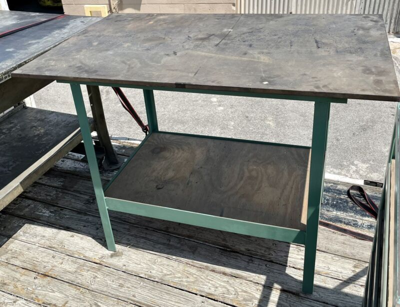 """5/8"""" Thick Top Welding Fabrication Table Steel Workbench Stand"""