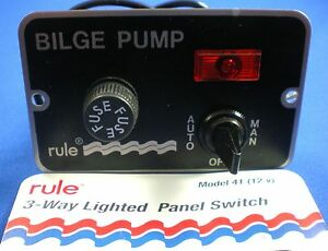 Rule-3-Way-Deluxe-Panel-Bilge-Pump-Switch-New-A284