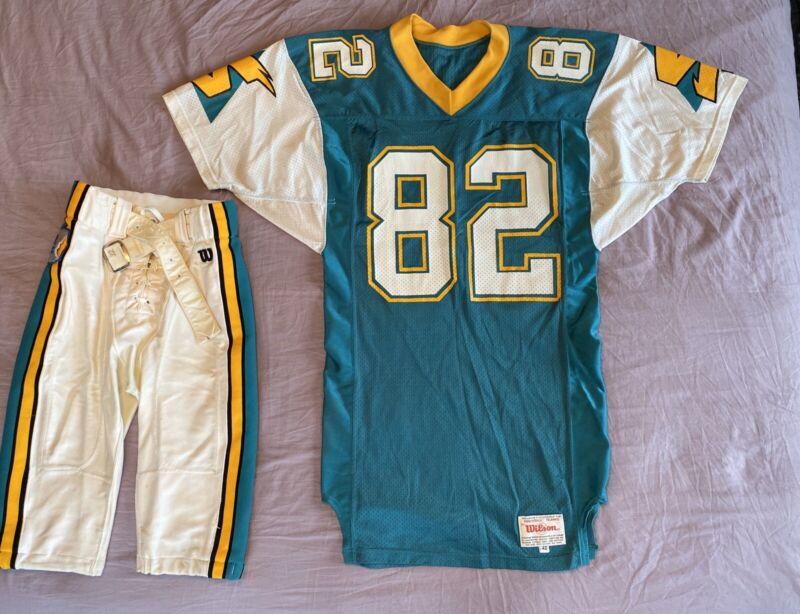 "Sacramento Surge Game-used Uniform Jersey & Pants ""mark Stock"" Wlaf 1992 #82"