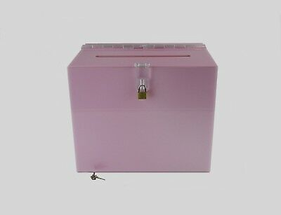 Suggestion Box / Collection Box Lockable - BB0005 Light Pink