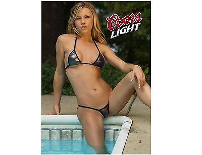 Coors Light Beer Pool Girl Refrigerator / Tool Box Magnet (Tool Fridge)