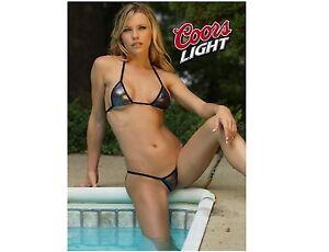 Coors Light Beer Pool Girl Refrigerator / Tool Box Magnet