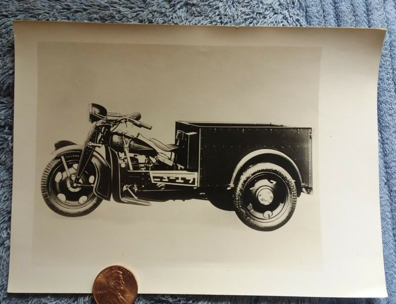 1930s New Era Motorcycle orginal photo with delivery bed