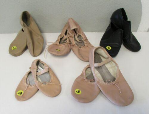 LOT 5 Girls Leather Ballet Dance Balerina+Jazz Shoes SPOTLIGHT+BLOCH 1.5,2,3,10+