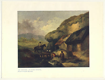 The Traveller By George Morland 1906 Colour Print
