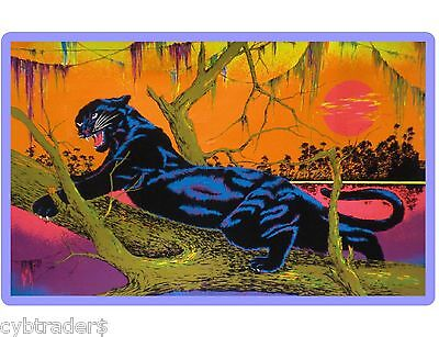 BLACK LIGHT JUNGLE CAT PANTHER 70's POSTER IMAGE REFRIGERATOR  MAGNET