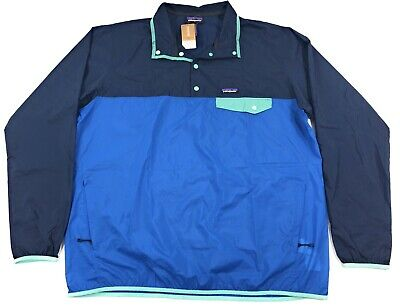 Patagonia Houdini Snap T Pullover Jacket Mens Port Blue Lightweight Packable