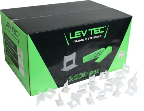 """LevTec Tile Leveling Clips 1/16"""" 2000 Count Box"""