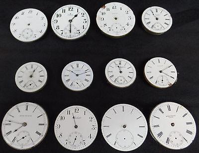 12 VINTAGE ANTIQUE WATCH MOVEMENTS POCKET WRIST NEW YORK STANDARD COLUMBIA SETH