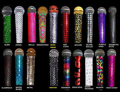 MICROPHONE COVER SKIN (SPARKLE) for STANDARD CORDED/WIRED Microphones (Microphone Glitter)
