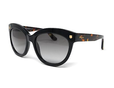Salvatore Ferragamo Sunglasses SF675S 001 Black Round Women (Ferragamo Sunglasses Womens)