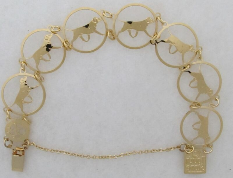 Bullmastiff Jewelry Gold Bracelet by Touchstone
