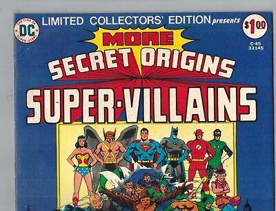Secret Origins Super Villains C-45   1st Wonder Woman vs Cheetah Battle!  F/VF! - Comic Book Women Villains