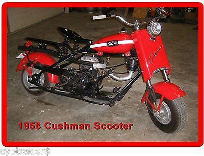 Cushman Motor Scooter 1958  Refrigerator / Tool Box Magnet Man Cave