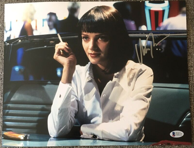 UMA THURMAN SIGNED AUTOGRAPH PULP FICTION CLASSIC POSTER 11x14 PHOTO BECKETT A