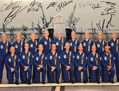 Blue Angels 2018 COMBO COA SIGNED RARE 11x14 PHOTO PROOF AUTOGRAPHED U.S. Navy