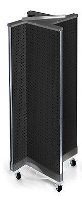 Styrene Pinwheel Pegboard Floor Display In Black13.5w X 44h Inches