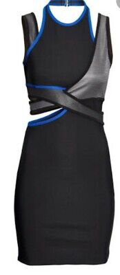 H&M Alexander Wang Bodcyon Cut Out Pencil Midi Dress Asos Size 10