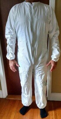 KAPPLER White Polyolefin Disposable Cleanroom Coverall - PRO/CLEAN - Size LARGE
