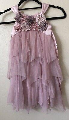 Tutu Tank (Girls Biscotti 4  Pink Blush Rose Tutu Tank Dress Flower Mauve Wedding Easter)