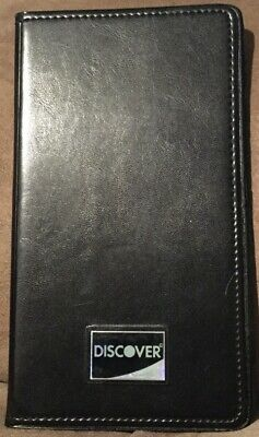 Discover Black Restaurant Double Panel Check Bill Server Book