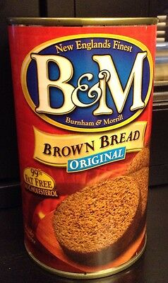 B&M Original Canned Brown Bread New England Boston Burnham & Morrill BM Food