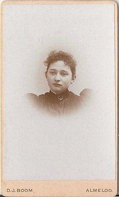 CDV photo Damenportrait - Almeloo 1890er