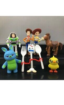 7PCS Toy Story 4 Action Figures Figurines Play Set Woody Buzz Lightyear Forky