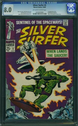Silver Surfer # 2 CGC 8.0 -- 1968 -- 1st app Brotherhood of Badoon. #0233337003