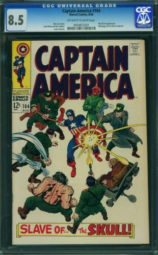 Captain America 104 CGC 8.5 -- 1968 -- Red Skull.  Kirby #0954872001