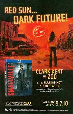 Smallville: Red Sun Dark Future! Clark Kent Vs. ZOD: 9th Season DVD Print Ad!