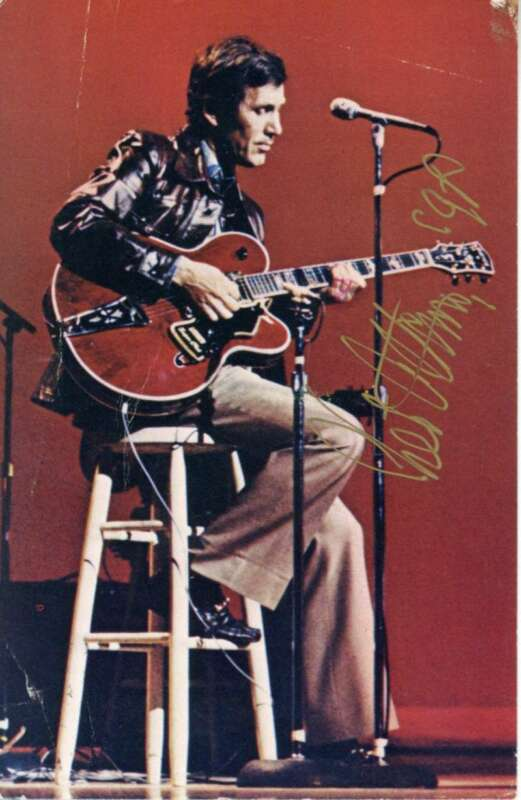 Chet Atkins Signed Autographed 4x6 Post Card Beckett BAS