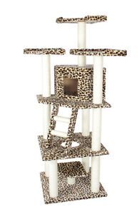New-BestPet-Leopard-Skin-76-Cat-Tree-Condo-Furniture-Scratch-Post-Pet-House-28L