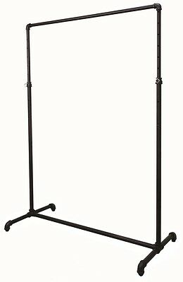 New Pipeline Collection Single Bar Garment Rack Black Free Shipping