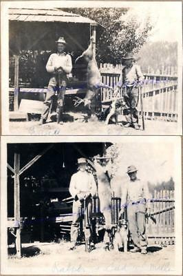 1920s Men Hunters Spaniel Dog Lever Action Rifles Trophy Deer Buck Stag Photos