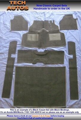 Carpet Set Handmade to Order Hessian Back Austin MG Morris 1100 1300 ADO16