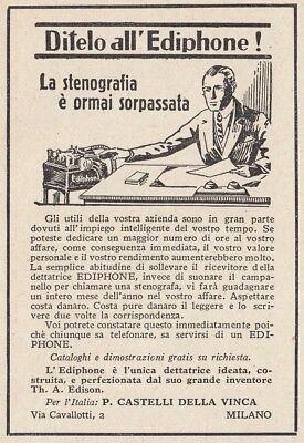 Z3997 Dettatrice EDIPHONE - Pubblicità d'epoca - 1933 vintage advertising