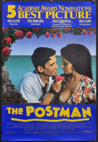 "POSTMAN / IL POSTINO 1995 ORIGINAL 27X40 NM ""AA"" MOVIE POSTER ANTONIO SKARMETA"