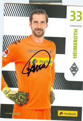 Christofer Heimeroth - Original Autogramm 2017 - Mönchengladbach