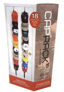 Perfect Curve Cap Rack 18 Cap Hat Organizer Storage Door Hanger  #12205   NEW!!