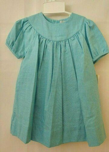 Petit Ami Bishop Dress & Bloomers 3261 Short Sleeve Turquoise 18 or 24M  #10423