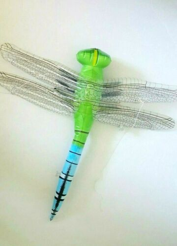 """Large 20"""" Inflatable Dragonfly Insect Bug Display Hang Up Squeaky Toy Prop"""