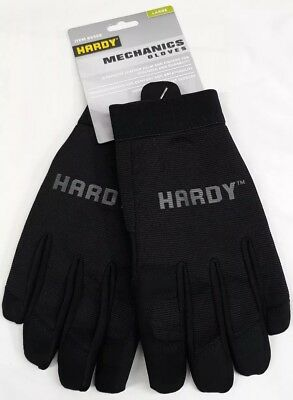 Hardy Mechanics Work Gloves Size Large Hand Protection Synthetic Leather