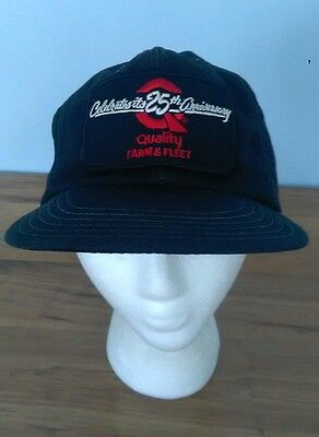 Vintage Quality Farm   Fleet Inc Snapback Hat Cap 25Th Anniversary Patch Black