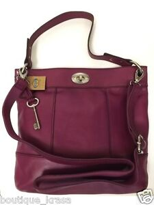 NWT Fossil ZB5365 Hunter Hobo Crossbody Genuine Leather Vintage Bag Auth