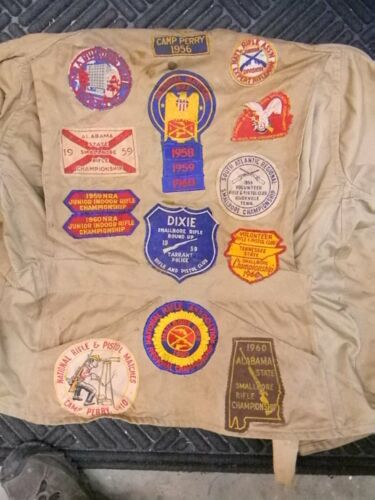 Vintage Shooting Jacket with 15 Patches from 1958-1960