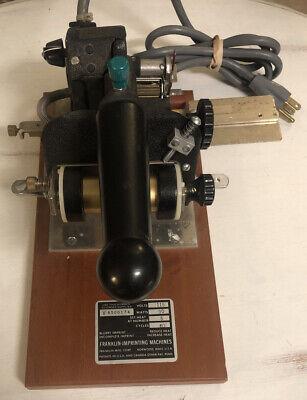 Franklin Universal Match Hot Foil Stamp Imprinter Machine