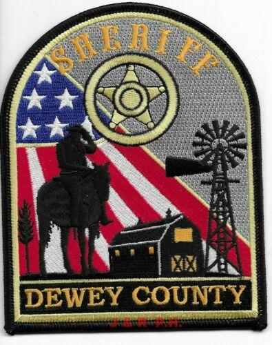"*NEW*  Dewey County Sheriff, SD (4"" x 5"" size) shoulder police patch (fire)"